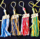 academic tassels key chain