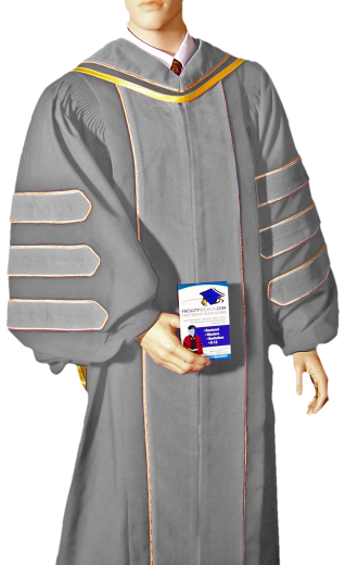 Design your own custom doctoral gown or academic robe