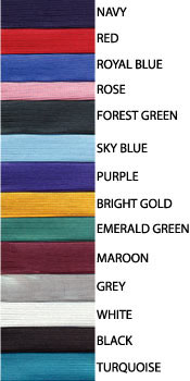 above, colors for traditional high school cap and gowns.