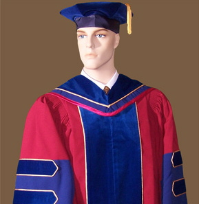 Doctoral gown fabrics and colors for custom academic regalia