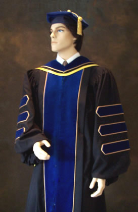 Academic hoods such as doctoral hood by Caps and Gowns Direct