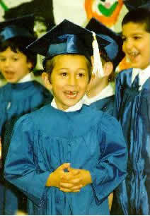 kindergarten cap and gown
